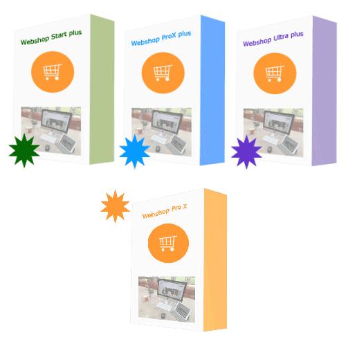 Webshoppakketten aangeboden door 1001webwinkels -super gewaardeerd door gebruikers-