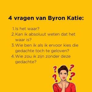 de 4 vragen van Byron Katie - The Work