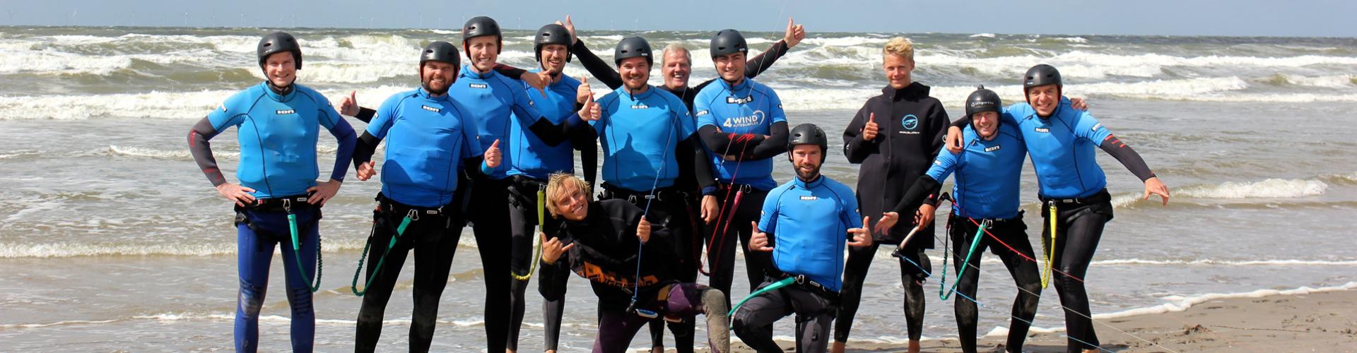 kitesurfles in noord holland