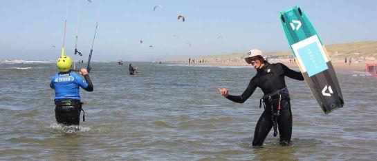 leren kitesurfen priveles