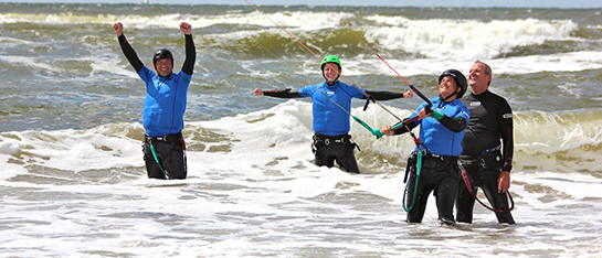 kitesurfschool 4wind geeft kitesurfles op de mooiste locatie van nederland