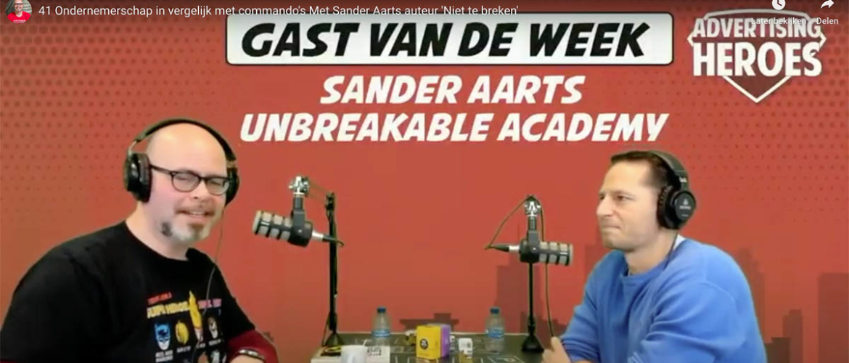 41. Ondernemerschap in vergelijk met commando's – Met Sander Aarts (auteur 'Niet te breken')