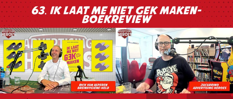 63 Ik laat me niet gek maken - Boekreview met Rick van Asperen
