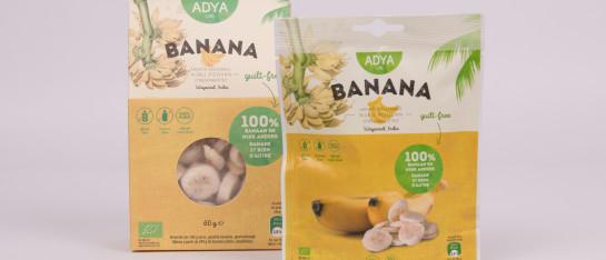 adya banaan bio gevriesdroogd snack ingrediënt ontbijt