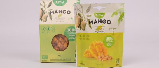 mango bio gevriesdroogd snack gezond ontbijt yoghurt