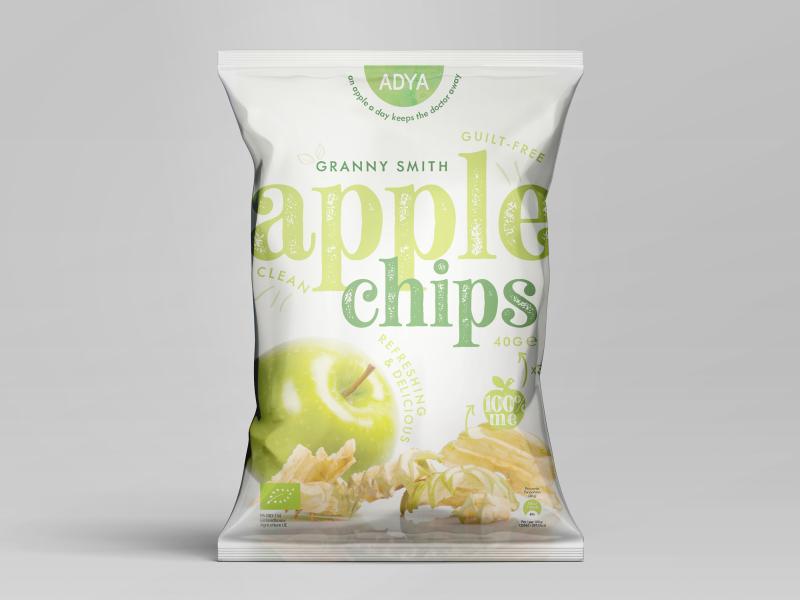appel chips groen vezels
