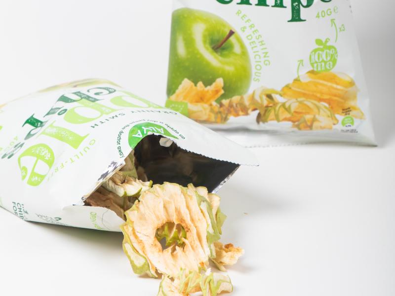 appel chips bio vezels snack