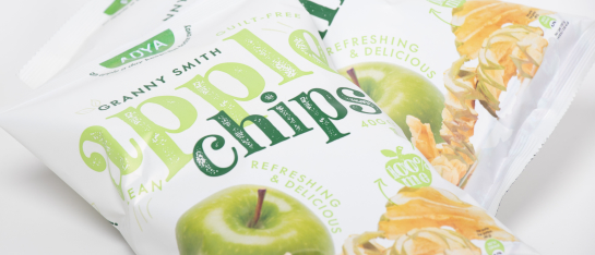 appel chips puur snack crispy vezels