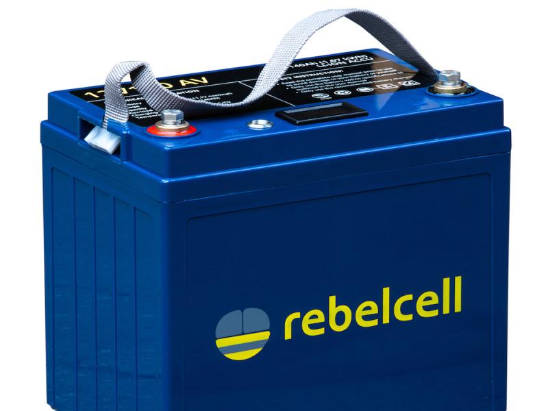 12 volt 100 ah lithium accu van Rebelcell