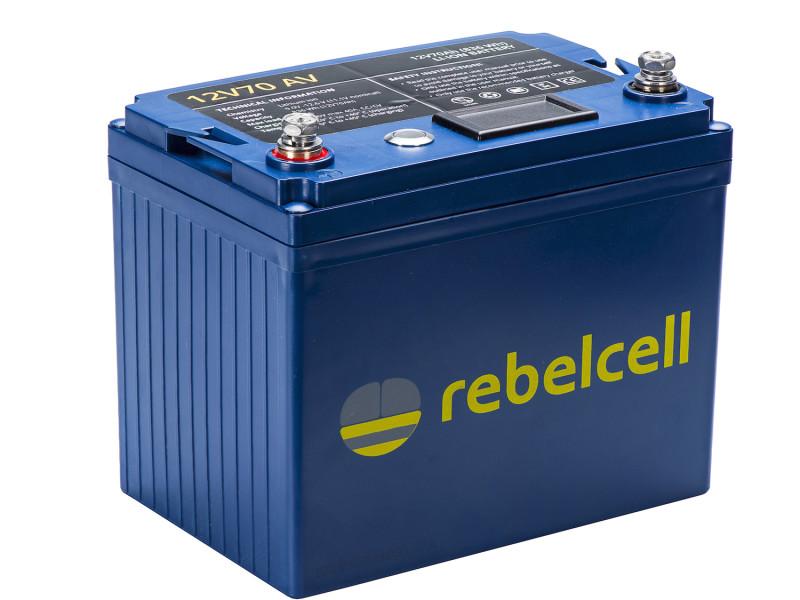 Lithium accu 12 volt 70ah rebelcell AV lijn