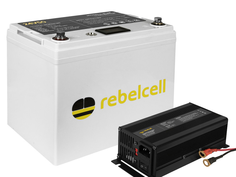 Rebelcell 24V50 lithium accu