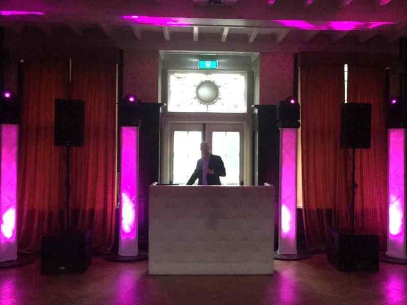 DJ in Baarn Kasteel De Hooge Vuursche voor personeelsfeest met Ambitious
