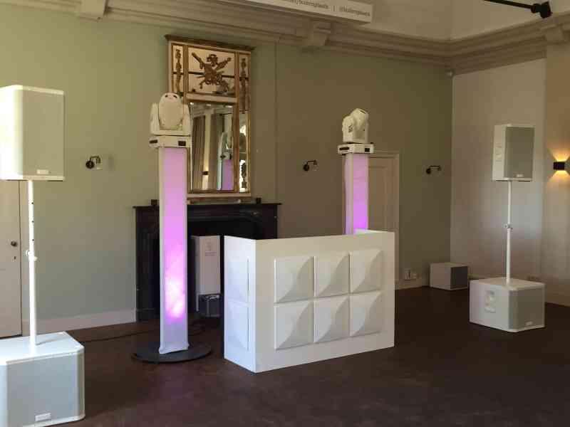 DJ boeken in Buitenplaats Amerongen voor bruiloft met witte exclusieve show van Ambitious
