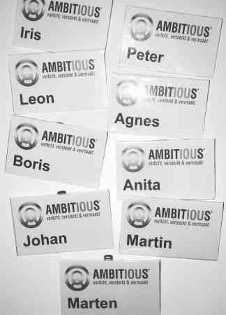Badges Ambitious dj-demo avond