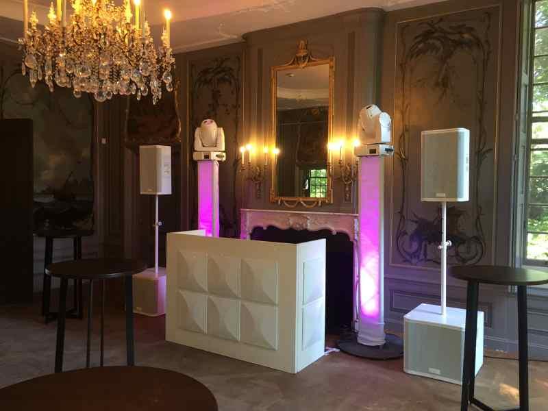 DJ boeken in Driebergen Buitenplaats Sparrendaal voor bruiloft met witte exclusieve show van Ambitious