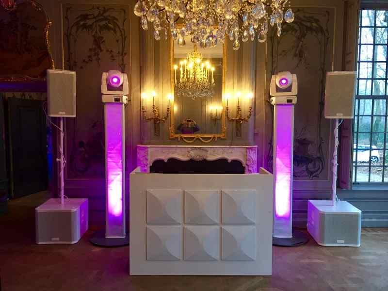 DJ boeken in Driebergen Buitenplaats Sparrendaal voor bedrijfsfeest met witte exclusieve show van Ambitious