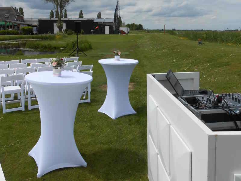 DJ in Gouda inhuren voor Brasserie IJsselweide huwelijksceremonie buiten