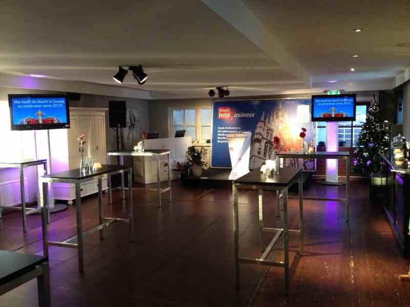 DJ in Gouda Brasserie IJsselweide zakelijk evenement netwerkborrel Gouda into Business