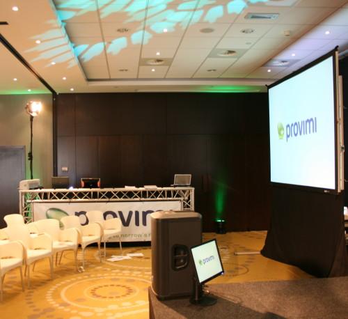 Licht en geluid huren voor symposium Provimi in het Design Hotel te Amsterdam