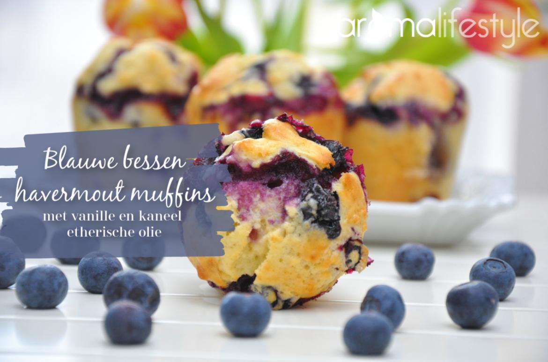 blauwe bessen havermout muffins