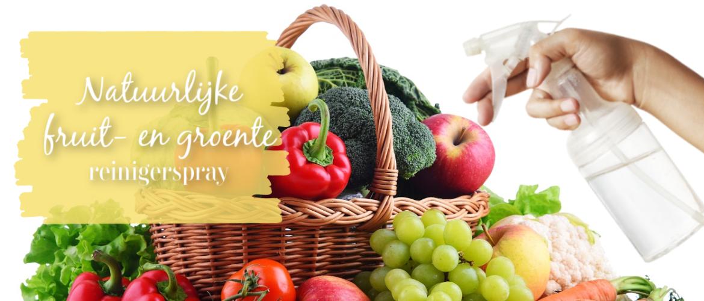 Natuurlijke fruit- en groente reinigerspray, voor snelle effectieve reiniging
