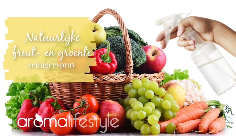 natuurlijke fruit- en groente reinigerspray