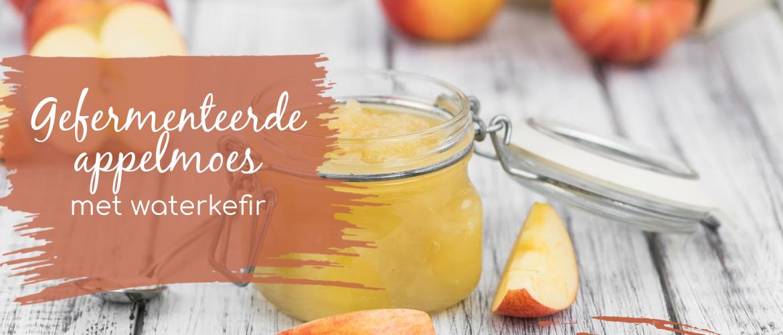 Gefermenteerde appelmoes met waterkefir, verfrissend en eenvoudig.