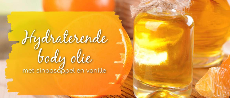 Hydraterende body olie met vanille en sinaasappel