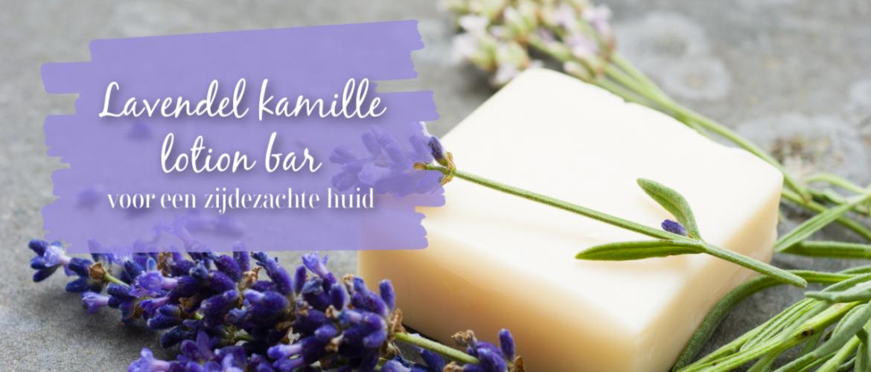 Lavendel kamille lotion bar, voor een zijdezachte huid