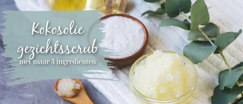 Kokosolie gezichtsscrub, voor een zachte, schone huid