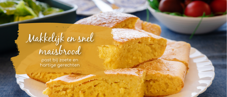 Maisbrood, makkelijk en snel, ook glutenvrij te maken