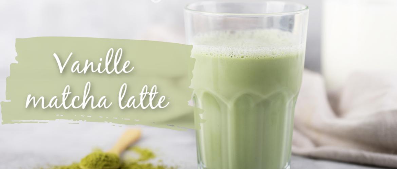 Vanille matcha latte, heerlijke groene power met vanille extract!
