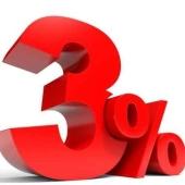 3% rente