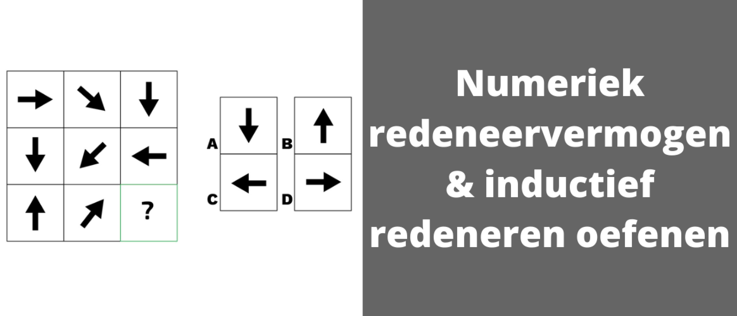 Numeriek redeneervermogen & inductief redeneren oefenen