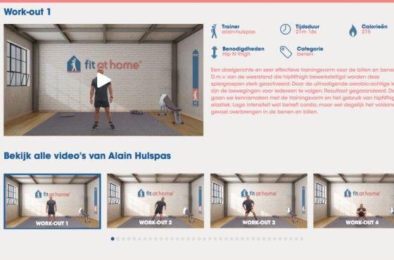 Fit at Home fitness video streaming platform