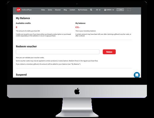 Online masterclasses vouchers AudiencePlayer