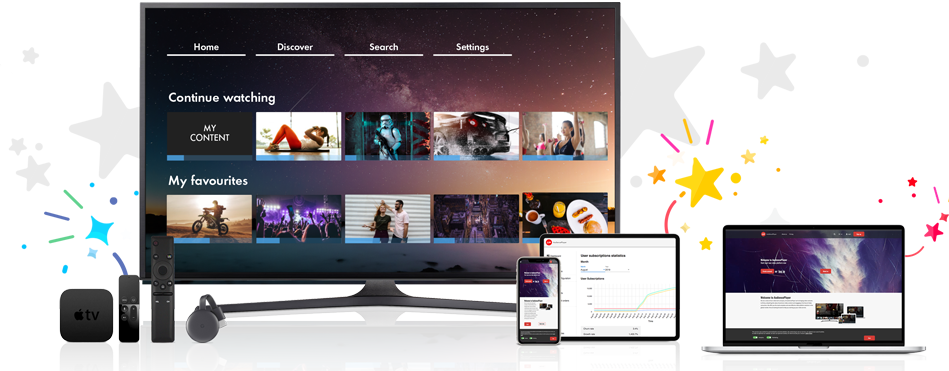 Start your own video platform on any device
