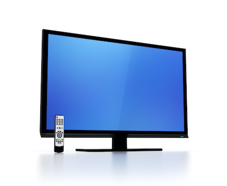 Smart TV with remote control