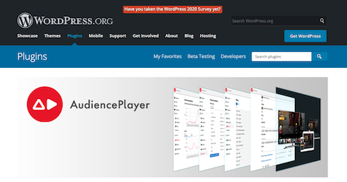 Online video streaming WordPress plugin AudiencePlayer