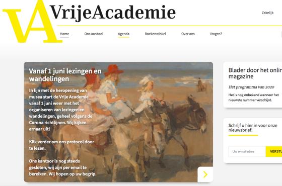 Vrijde Academie online courses