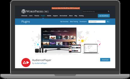 WordPress video streaming plugin AudiencePlayer