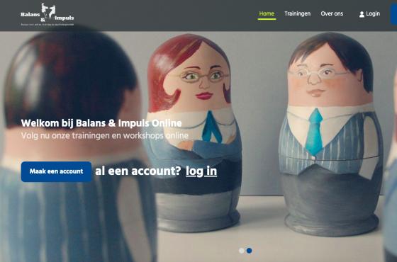 Balans en impuls - online trainingen voor medewerkers en leidinggevenden