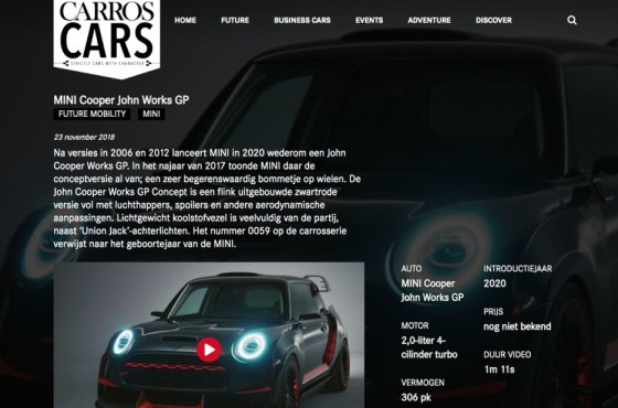 CarrosCars uitgeverij automotive video streaming platform