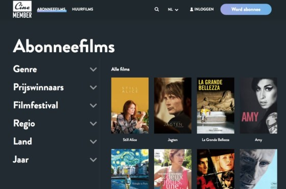 CineMember online film archief video SVOD TVOD