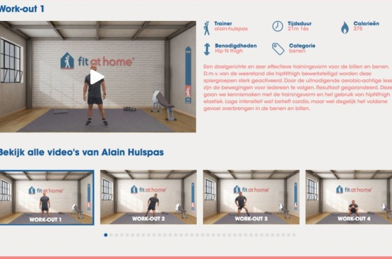 Fit at Home video platform Fitness video streaming