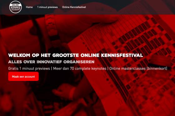 Het grootste online kennisfestival, alles over innovatief organiseren