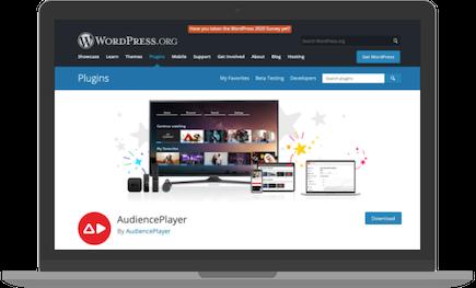 WordPress plugin video streaming AudiencePlayer