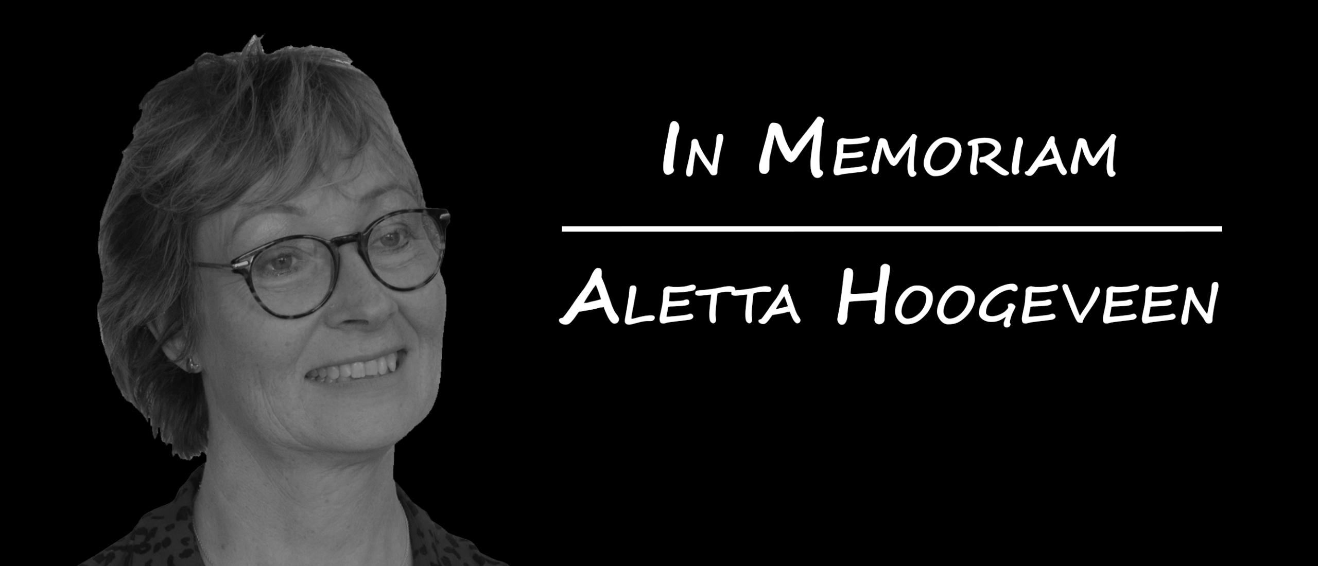 In Memoriam | Aletta Hoogeveen