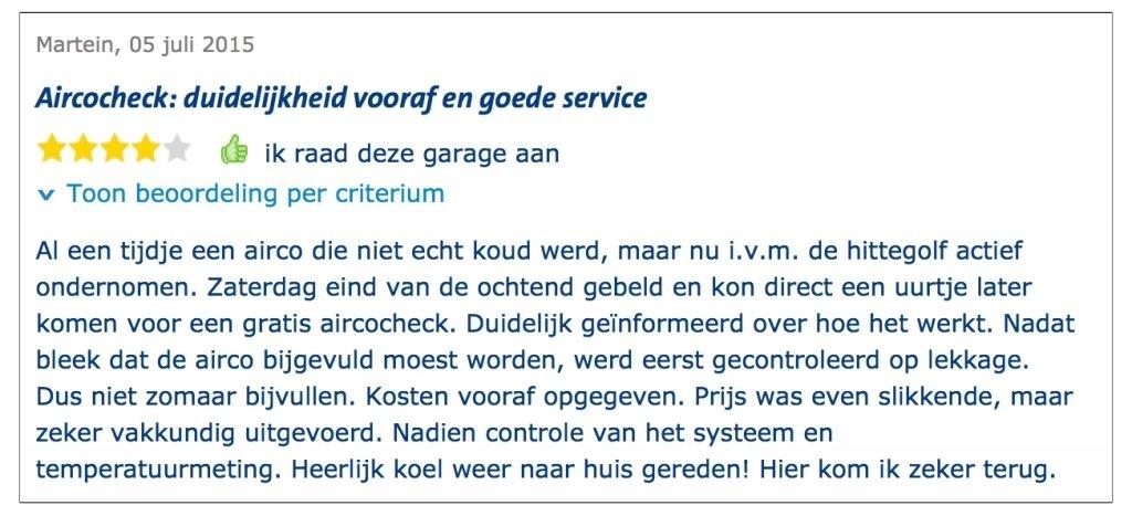 aircoservice Autoprofi Hoogeveen review