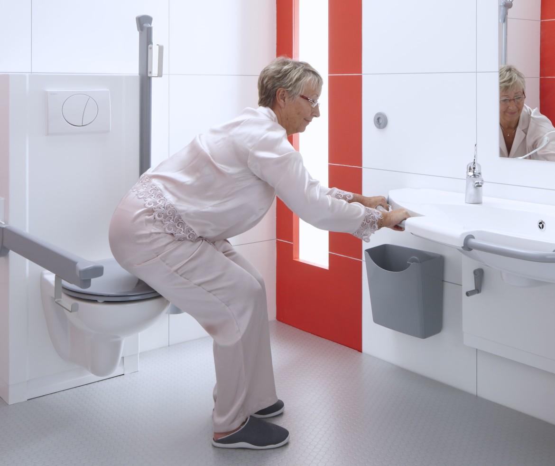 Badkamer prullenbak voor in de zorg